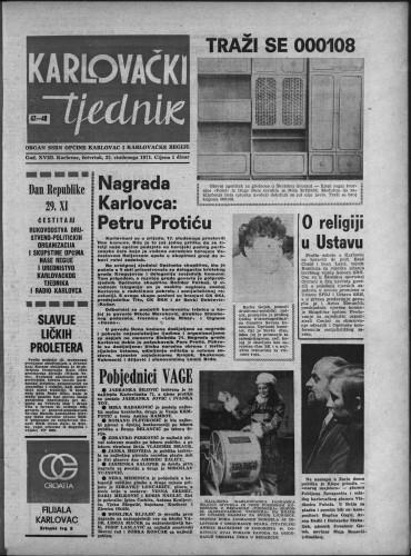Karlovački tjednik: 1971 • 47