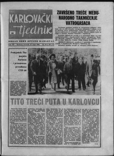 Karlovački tjednik: 1966 • 36