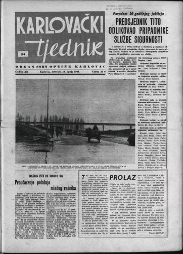 Karlovački tjednik: 1964 • 24
