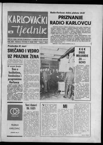 Karlovački tjednik: 1972 • 10