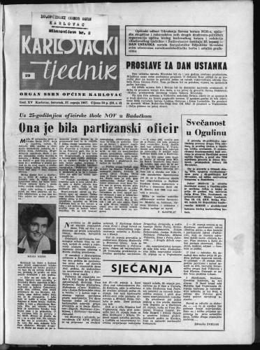 Karlovački tjednik: 1967 • 29