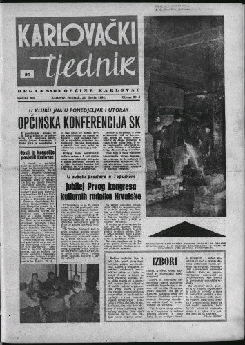 Karlovački tjednik: 1964 • 25