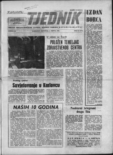 Karlovački tjednik: 1963 • 25