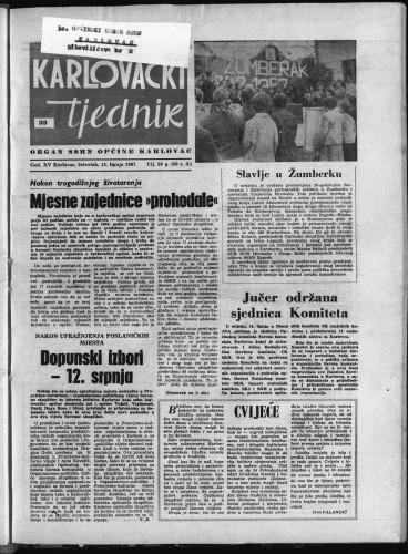 Karlovački tjednik: 1967 • 23