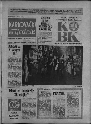 Karlovački tjednik: 1974 • 10
