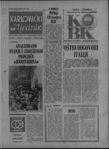 Karlovački tjednik: 1974 • 14
