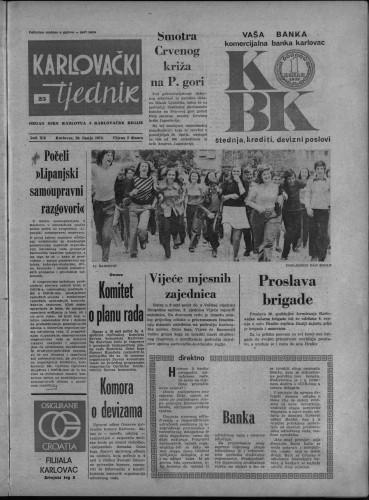 Karlovački tjednik: 1974 • 25
