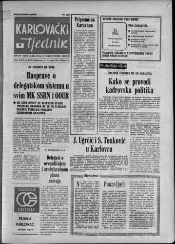 Karlovački tjednik: 1976 • 16