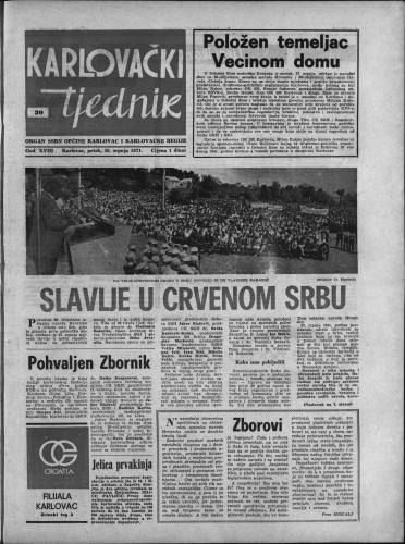 Karlovački tjednik: 1971 • 30
