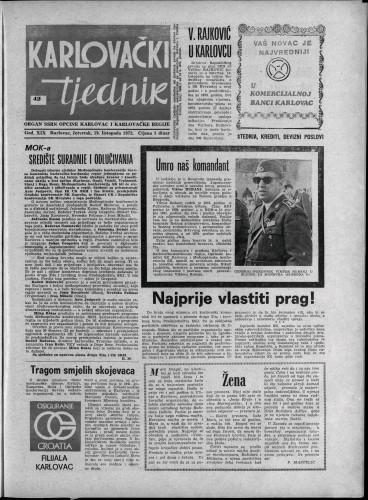 Karlovački tjednik: 1972 • 42