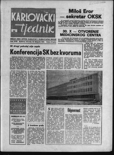 Karlovački tjednik: 1969 • 42