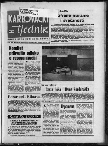 Karlovački tjednik: 1967 • 46