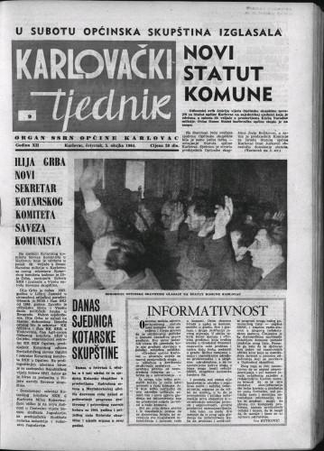 Karlovački tjednik: 1964 • 9