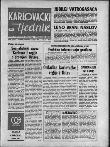 Karlovački tjednik: 1971 • 36