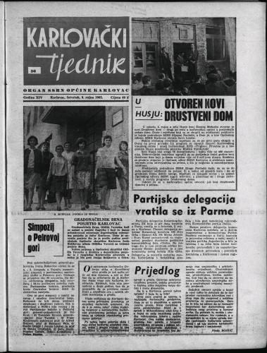 Karlovački tjednik: 1965 • 36
