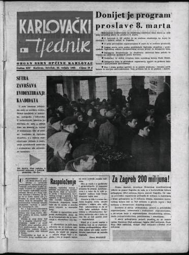 Karlovački tjednik: 1965 • 8