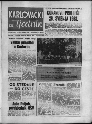 Karlovački tjednik: 1968 • 16