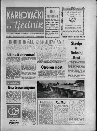 Karlovački tjednik: 1972 • 30
