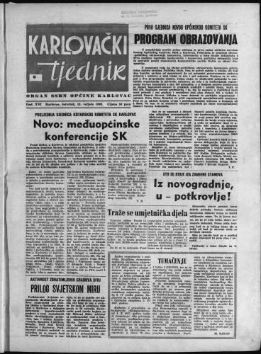 Karlovački tjednik: 1968 • 6