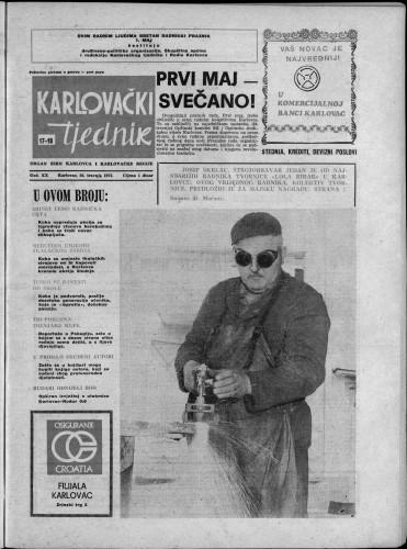 Karlovački tjednik: 1973 • 17