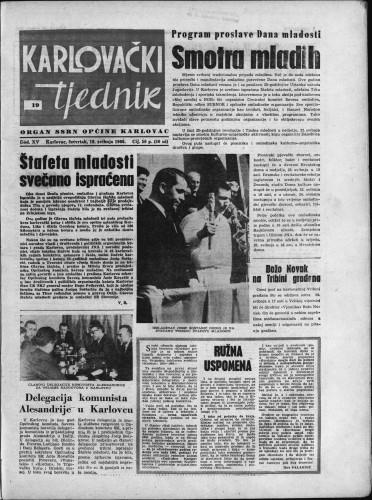 Karlovački tjednik: 1966 • 19