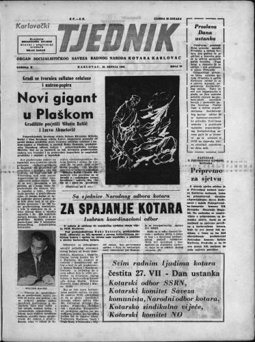 Karlovački tjednik: 1962 • 29