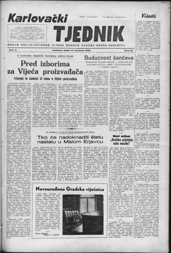 Karlovački tjednik: 1954 • 33