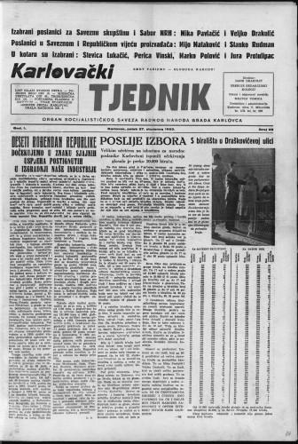 Karlovački tjednik: 1953 • 22