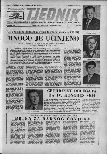 Karlovački tjednik: 1959 • 7