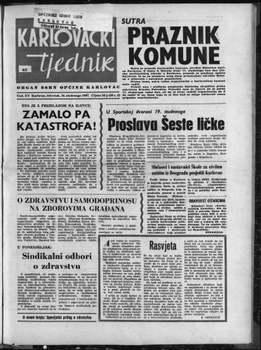Karlovački tjednik: 1967 • 45