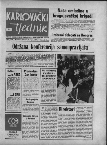 Karlovački tjednik: 1971 • 27
