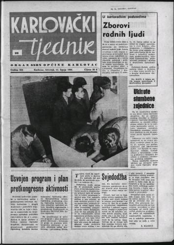 Karlovački tjednik: 1964 • 23