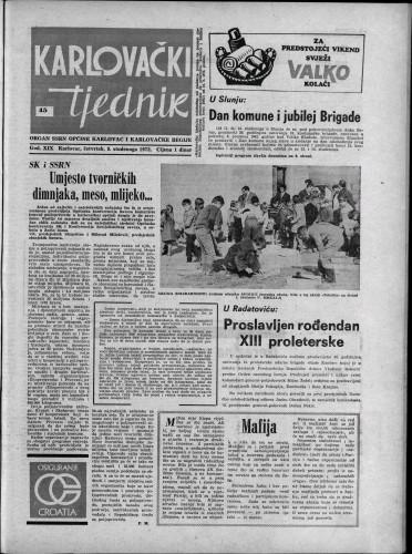 Karlovački tjednik: 1972 • 45