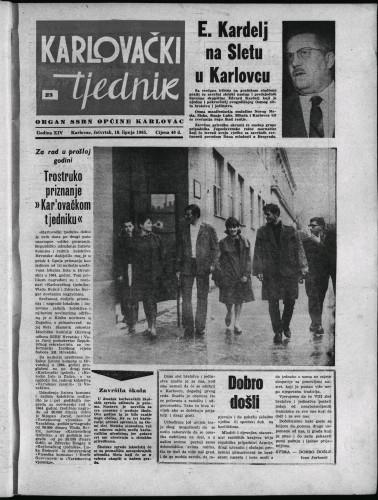Karlovački tjednik: 1965 • 23