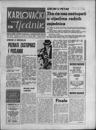 Karlovački tjednik: 1969 • 15
