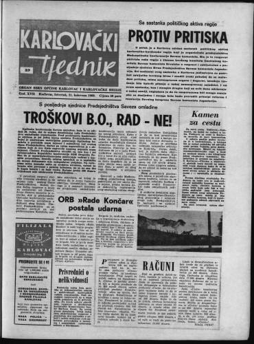 Karlovački tjednik: 1969 • 33