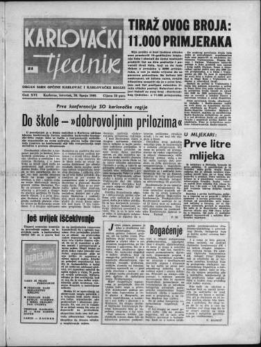 Karlovački tjednik: 1968 • 24