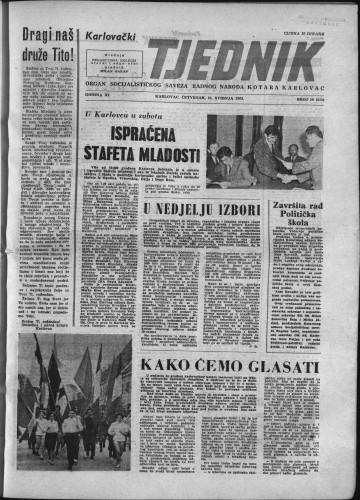 Karlovački tjednik: 1963 • 19