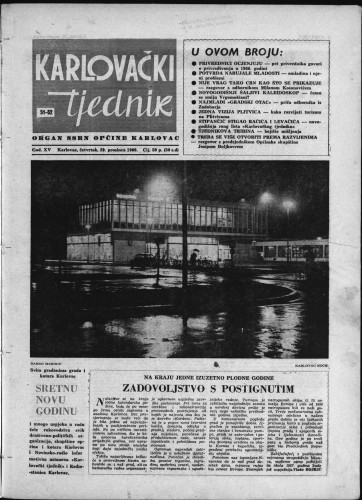 Karlovački tjednik: 1966 • 51