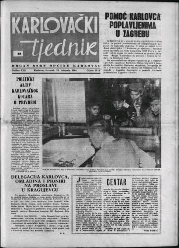 Karlovački tjednik: 1964 • 43
