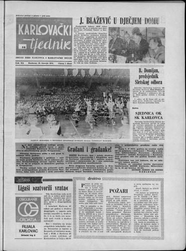 Karlovački tjednik: 1973 • 16