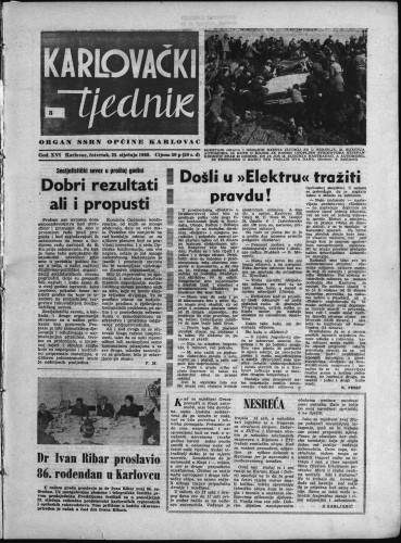 Karlovački tjednik: 1968 • 3