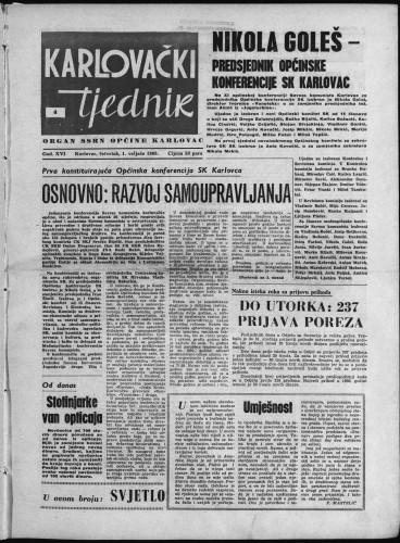 Karlovački tjednik: 1968 • 4
