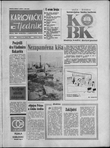Karlovački tjednik: 1973 • 28