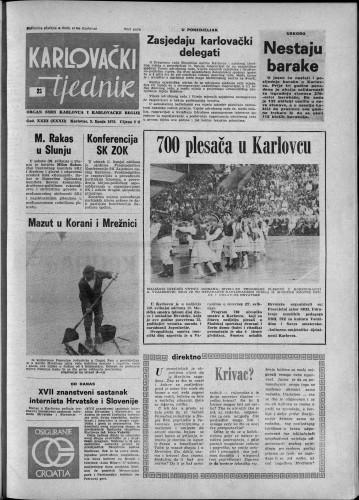 Karlovački tjednik: 1976 • 23