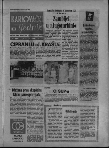 Karlovački tjednik: 1974 • 22