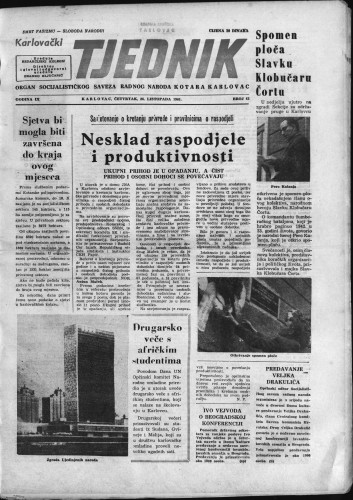 Karlovački tjednik: 1961 • 42