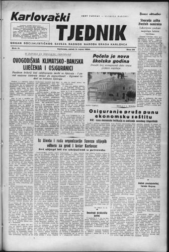 Karlovački tjednik: 1954 • 36