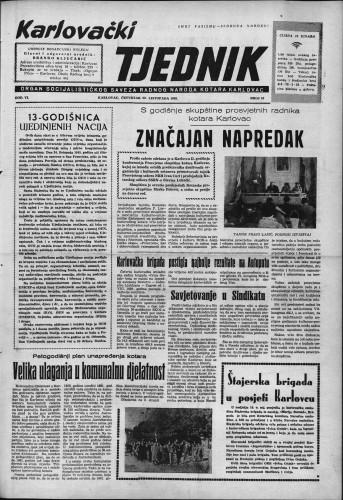 Karlovački tjednik: 1958 • 43