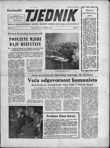 Karlovački tjednik: 1962 • 27